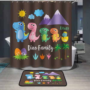 Cute Dinosaur Family Shower Curtain