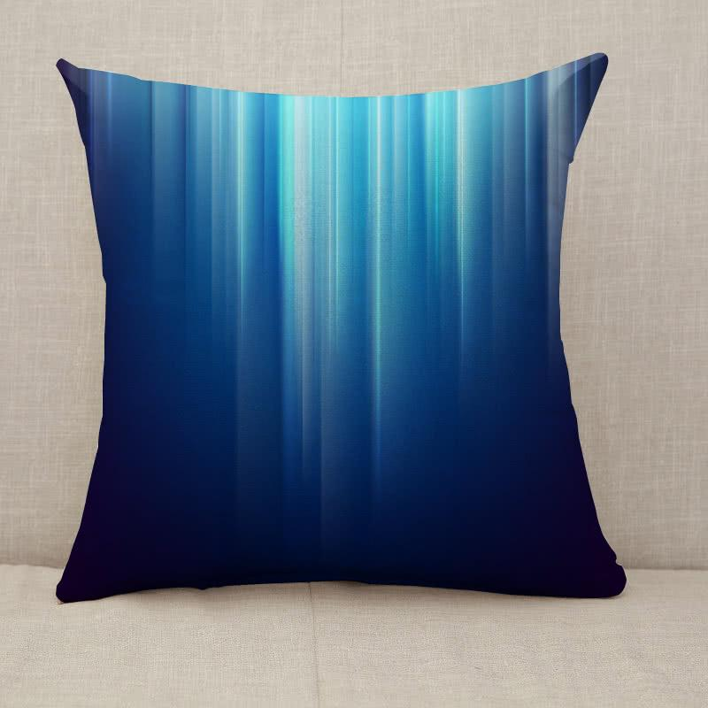 Abstract dark space glowing blue light lines Throw Pillow [With Inserts]