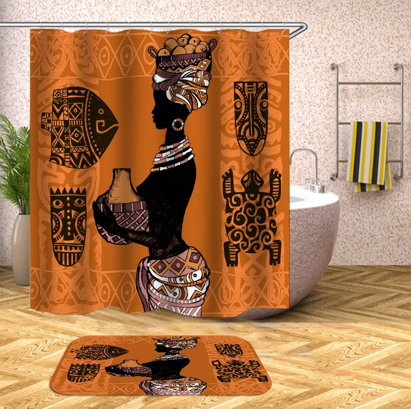 African woman ancient style Shower Curtain