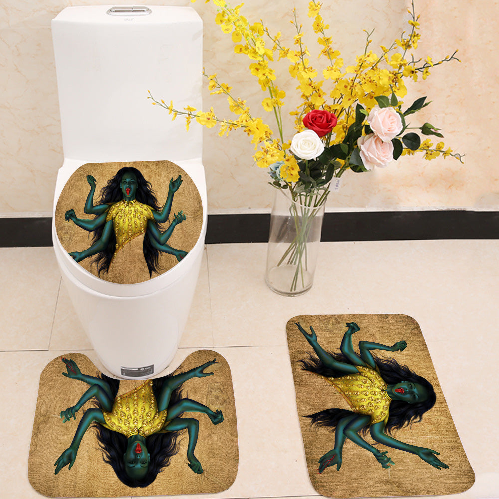 Kali 3 Piece Toilet Cover Set