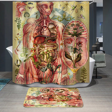 Meat yellow Shower Curtain