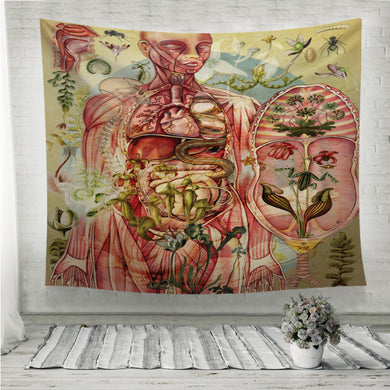 Meat yellow Wall Tapestry