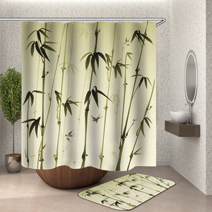 Drawing Bamboo Shower Curtain