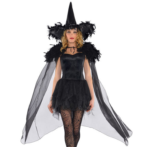 Feathered Witch Cape