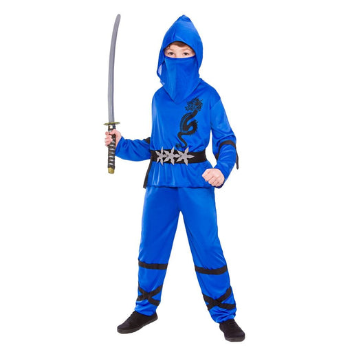 Kids Power Ninja Costume (Blue)