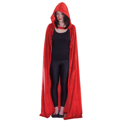 Velvet Hooded Cloak (Red)