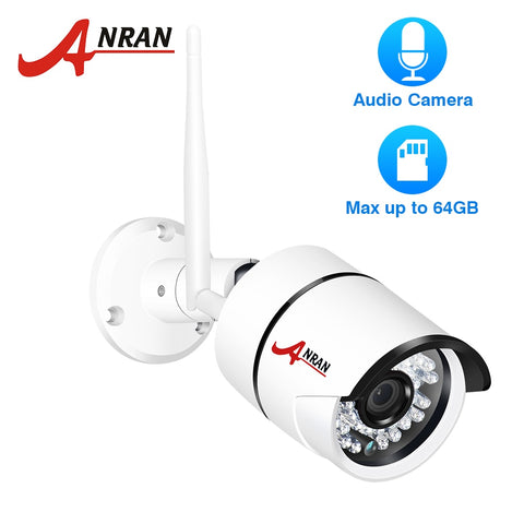 ANRAN 1080P IP Camera Wifi Outdoor Waterproof HD Security Camera Audio Record Built-in SD Card Slot Wireless Surveillance Camera - BuyShipSave