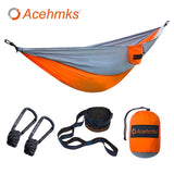 Acehmks Outdoor Hammock Garden Camping Sports Home Travel Hang Bed Double 2 Person Leisure Travel Parachute Hammocks - BuyShipSave
