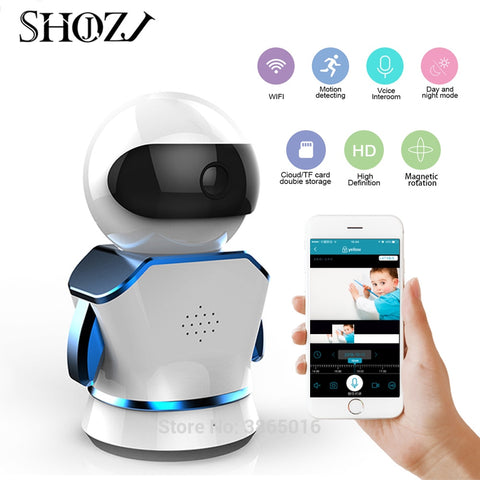 Robot  Baby monitor IP Camera WiFi cam Home Security Surveillance CCTV Network Camera Night Vision