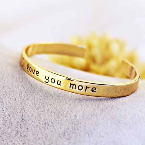 18k Gold Plated - I Love You More Bangle - BuyShipSave