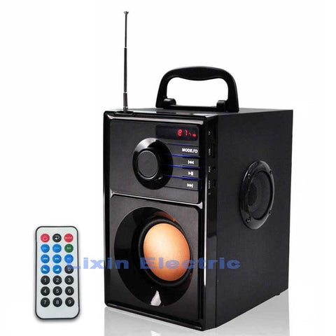 2500mAh 2.1Stereo Wooden Subwoofer Bluetooth Speaker FM Radio Portable Speakers Mp3 Play Super Bass  Loudspeaker computer Column - BuyShipSave