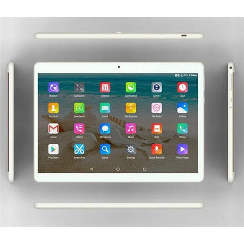 10.1 Inch Tablet PC Dual Sim Phone Pad Tablet PC Phablet with EU Plug (Golden 2+32) - BuyShipSave