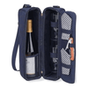 Picnic at Ascot Sunset Deluxe Wine Carrier - Navy