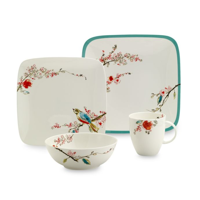Simply Fine Lenox Chirp Square 4-Piece Place Setting