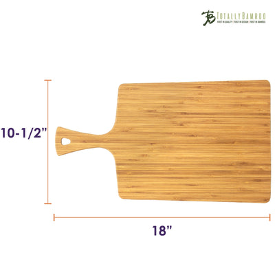 Totally Bamboo GreenLite 18 Dishwasher-Safe Serving & Cutting Paddle