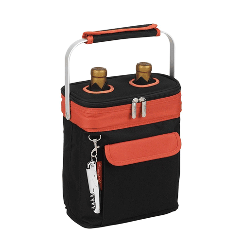 Picnic at Ascot Two Bottle Tote - Orange