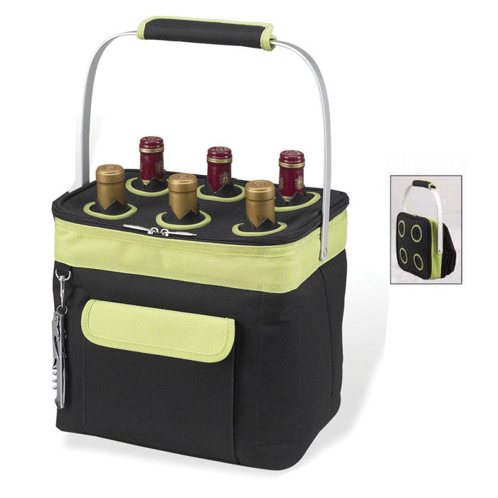 Picnic at Ascot 6-Bottle Collapsible Multi-purpose Cooler - Apple