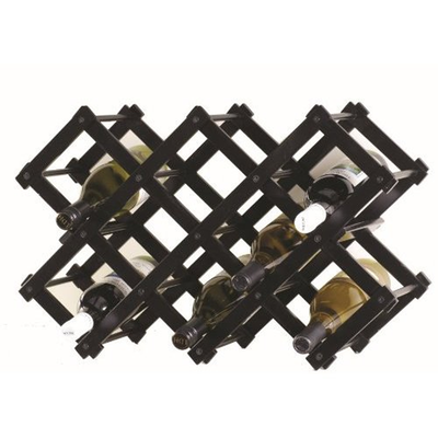 Accordia 10 Bottle Wine Rack - Black