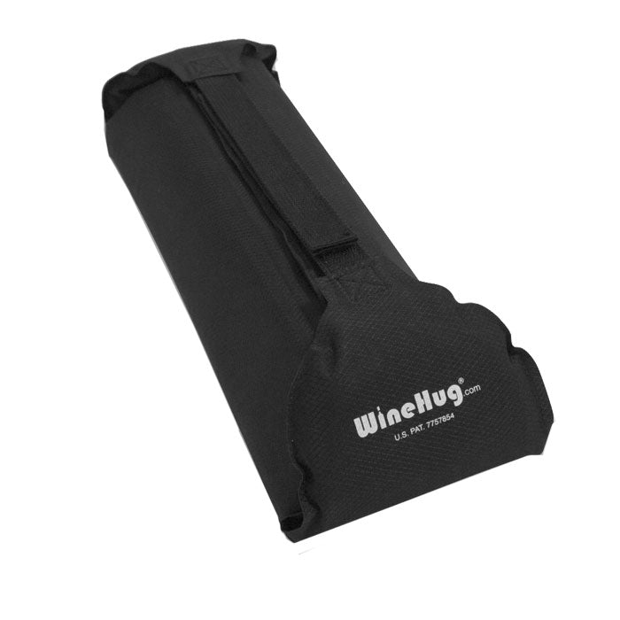 WineHug Self-Inflating Protective Travel Pouch-Black