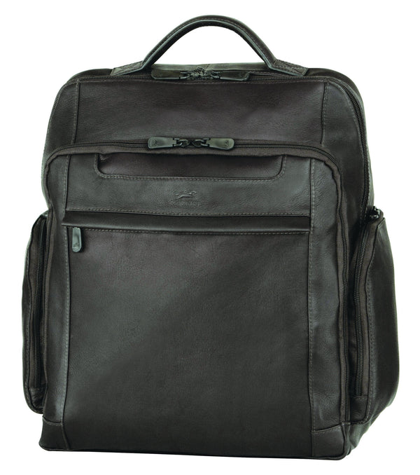 Mancini COLOMBIAN Collection Backpack for Laptop and Tablet - Black