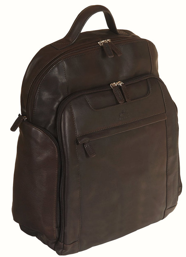Mancini COLOMBIAN Collection Backpack for Laptop and Tablet - Brown