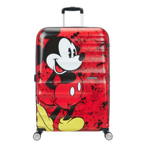 American Tourister Disney Wavebreaker Spinner Large Luggage - Mickey Comics Red