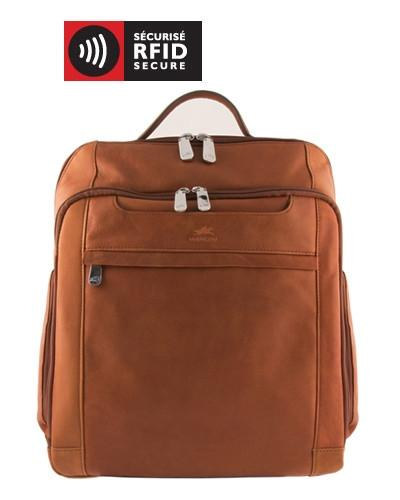 Mancini COLOMBIAN Collection Backpack for Laptop and Tablet - Cognac