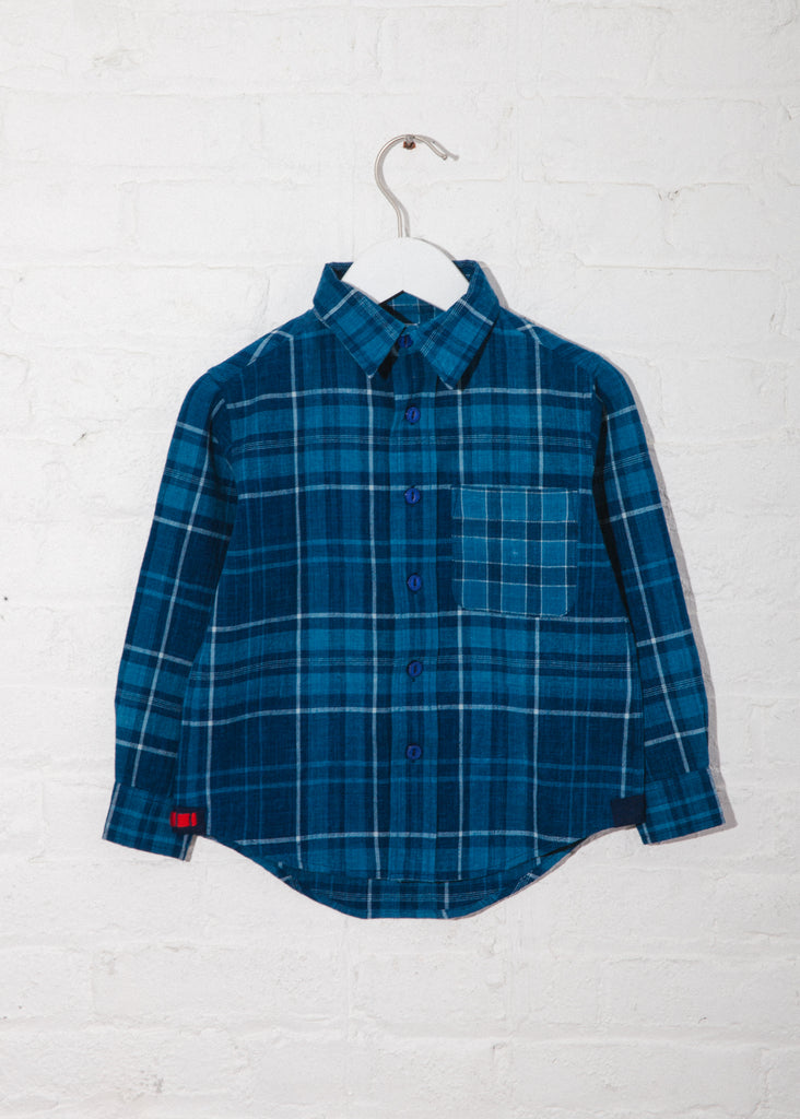 Kid's Matty Shirt in Hand Woven Plaids