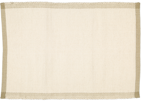 Bathmat Pebble weave natural with a Jute Border SBM009