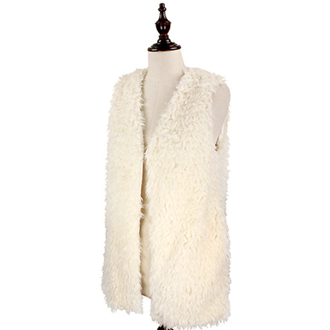 Fluffy Faux Fur Vest