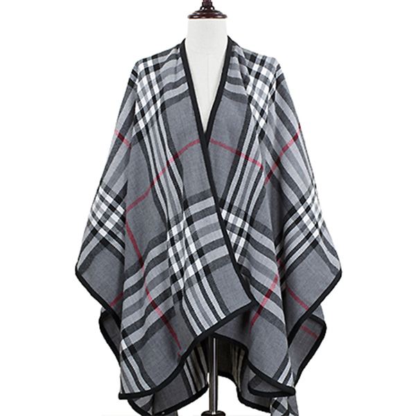 Plaid Cape Shawl/Wrap