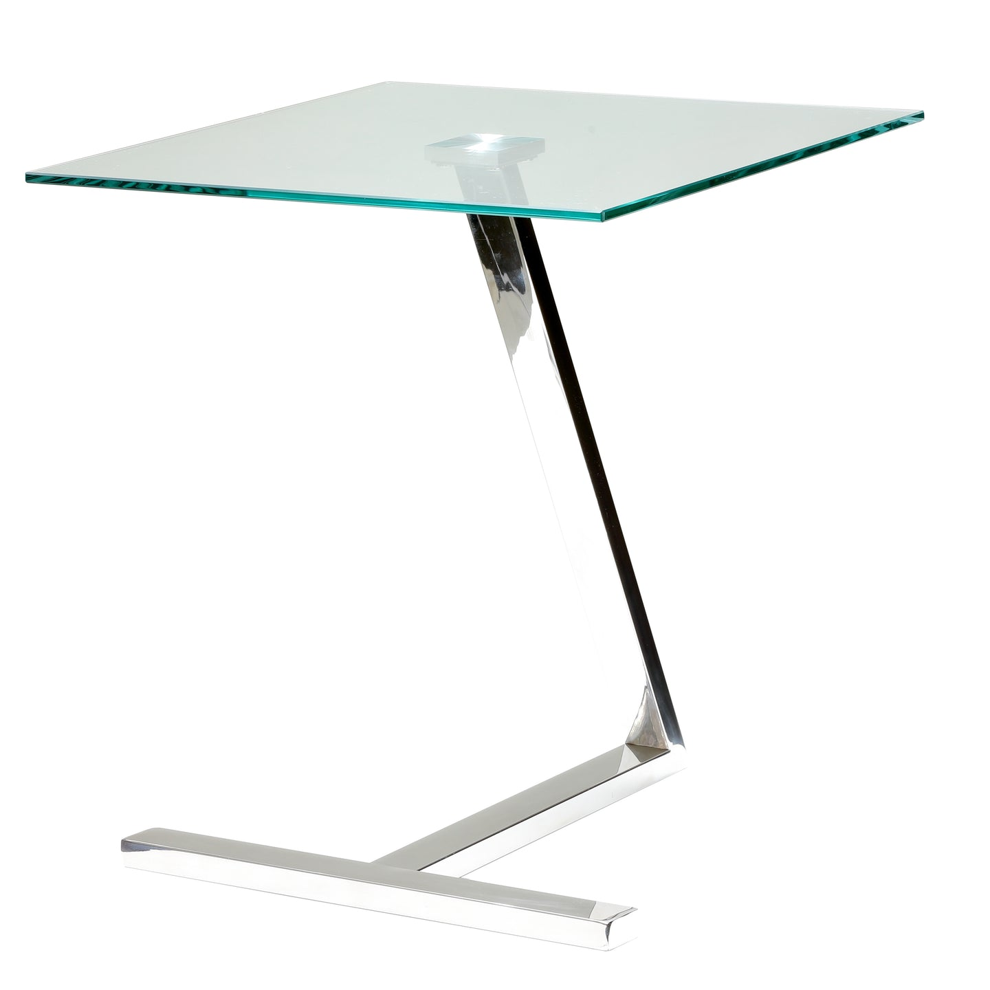 Cortesi Home Zee Square Glass End Table, 18x18x20