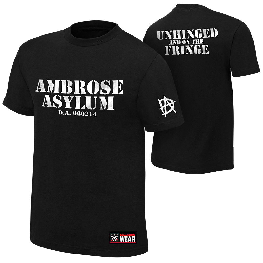 "WWE - Dean Ambrose ""Unhinged And On The Fringe"" Authentic T-Shirt"