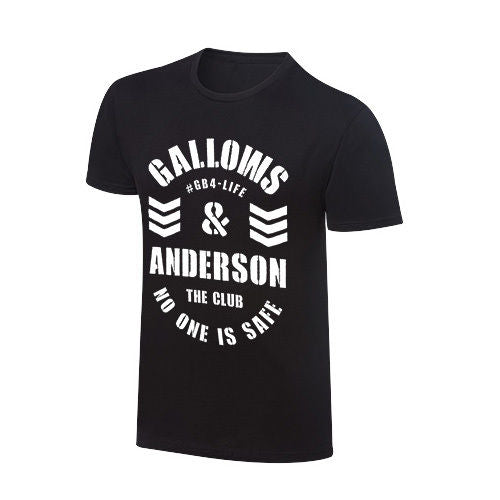 "WWE - The Club : Gallows and Anderson ""No One Is Safe"" Vintage T-Shirt"