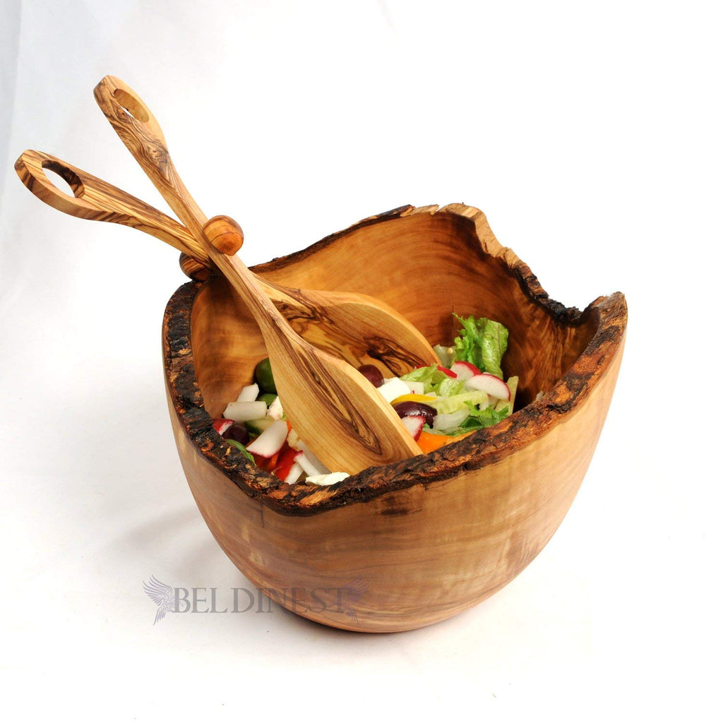 Olive Wood Salad Bowl- Rustic