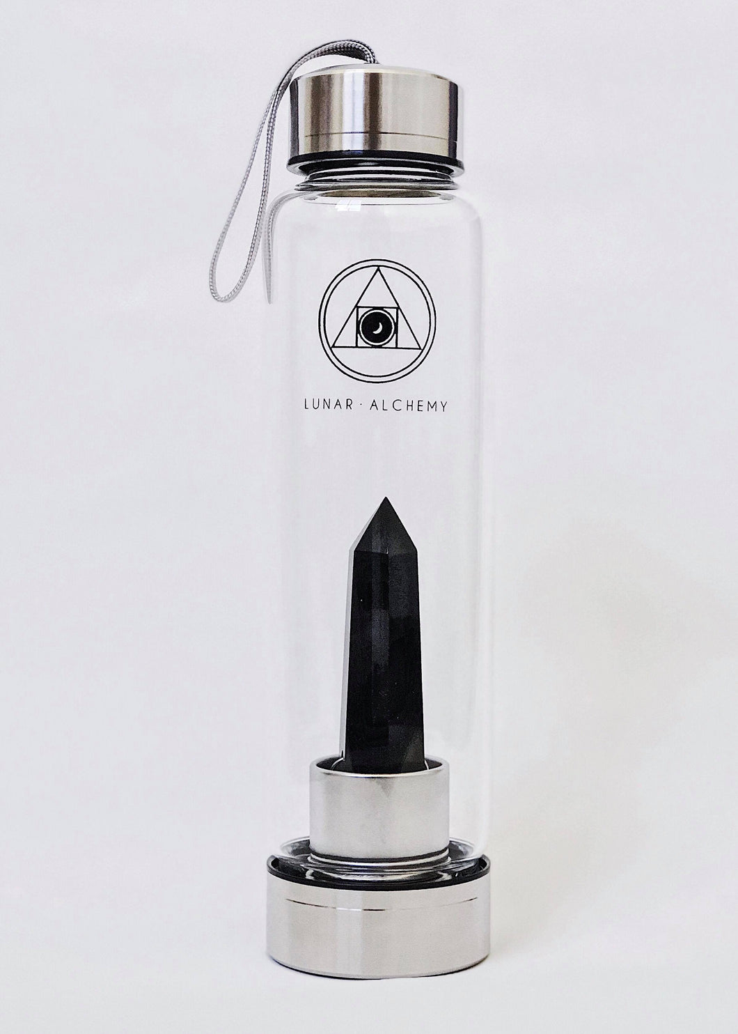 Black Obsidian Infused Water Bottle