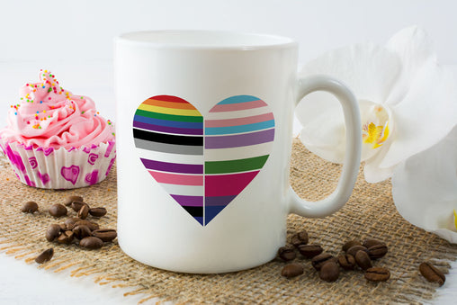 Heart of Flags Mug