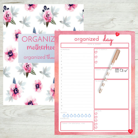 Organized Motherhood Planner and Journal Bundle