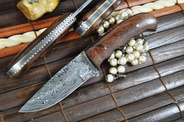 Custom Handmade Damascus Steel EDC Skinning Knife