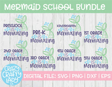 Load image into Gallery viewer, Mermaid School SVG Cut File Bundle