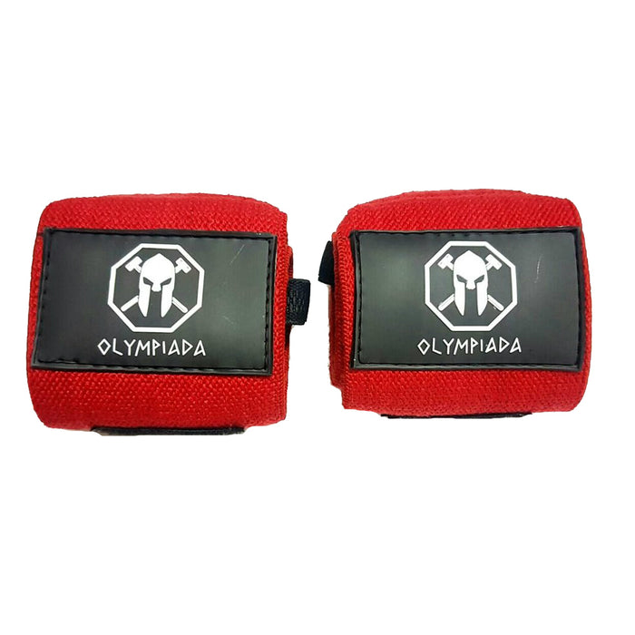 "Olympiada Gear 20"" Deluxe Wrist Wraps Red and Black"