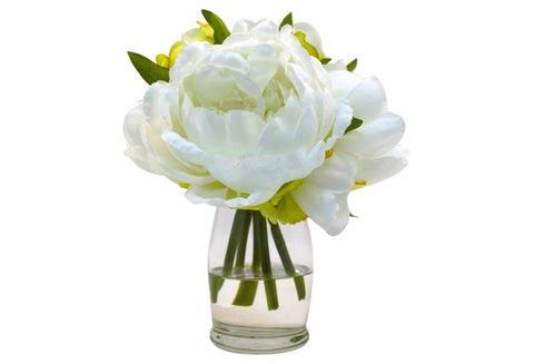 White Peony Bundle in Water Illusion #8110