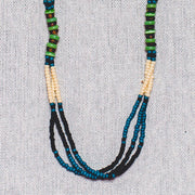 Montagnard Necklace - Indigo/Blue/Cream/Jade