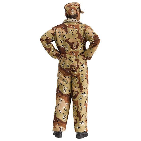 Commando Army Soldier Desert Camoflauge Boy's Costume Authentic Issue