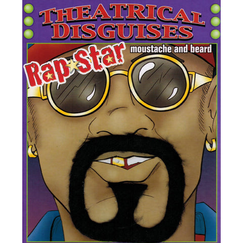 Men's Hip Hop Rapper Ali G Goatee Beard & Moustache Costume Accessory