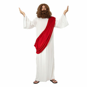 Jesus Moses Robe Biblical Men's Fancy Dress Costume