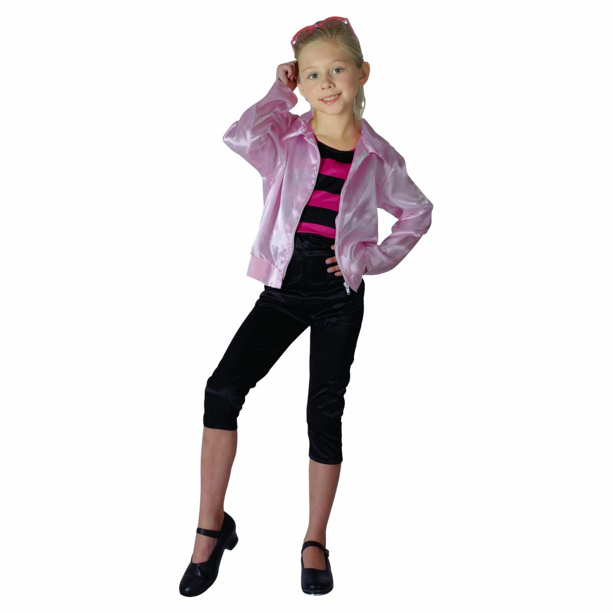 1950's Rock n Roll Pink Child's Fancy Dress Costume
