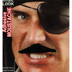 Men's Black Fake Cowboy Moustache