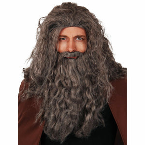 Wizard Wig with Beard and Moustache Fancy Dress Costume Wig