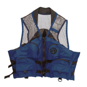 Airhead-Fishing Deluxe Adult Life Vest-Navy / 4XL/6XL